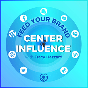 feed your brand center of influence logo kami guilder podcast guest appearance